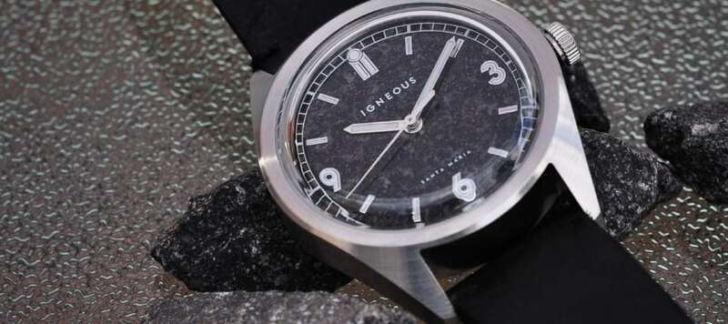 Introducing the Igneous Santa Maria, a Watch With a Dial Made of Magmatic Rock